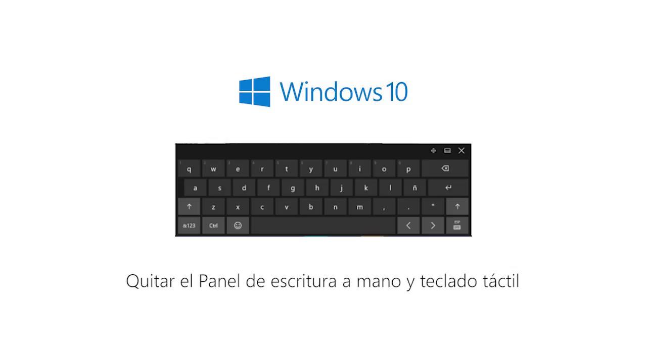 Cómo desactivar permanentemente el teclado táctil en Windows 10